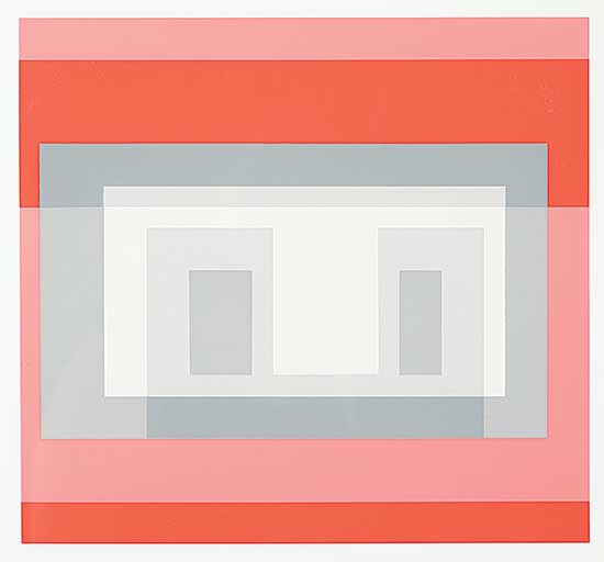#1004 ~ Albers - Untitled - Variants [VI], Greys and Reds