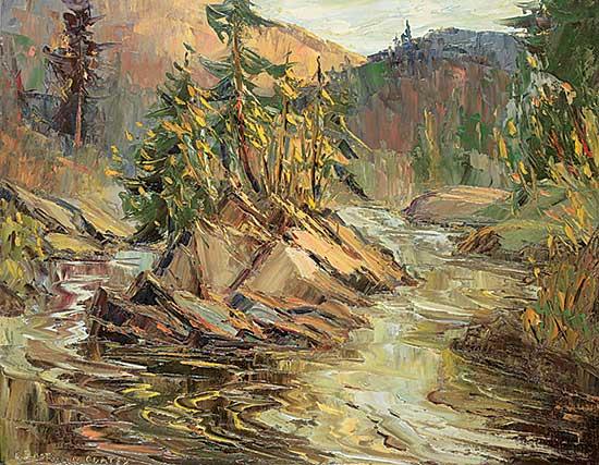 #1060 ~ Eastman-Coates - Islet on Little Castor River near St. Marguerite  P.Q.