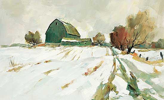 #1062 ~ Elliott - Untitled - A Snowy Road to the Farm