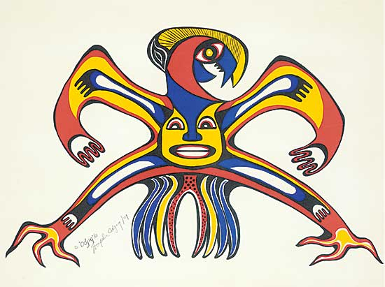 #105 ~ Odjig - Untitled - Spirit of the Mighty Thunderbird