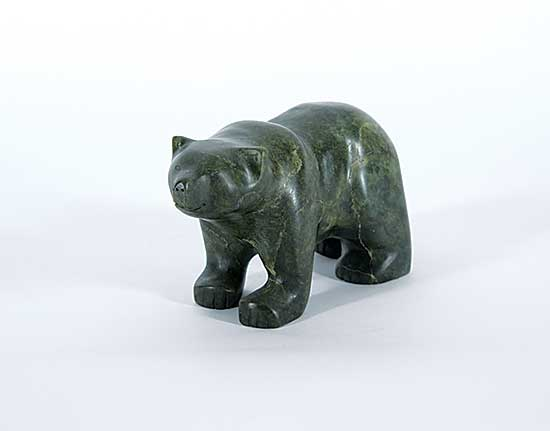 #148 ~ Totan - Untitled - Green Stone Bear