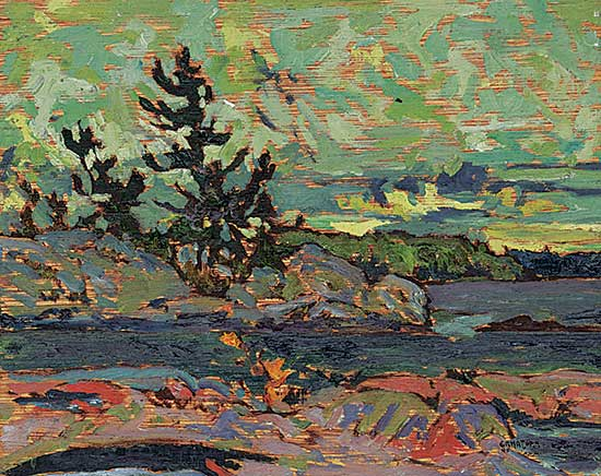 #1054 ~ Ermacora - Trees and Sky, Georgian Bay