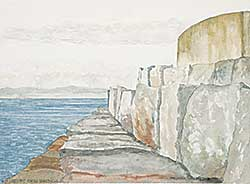 #1143 ~ Lambert - Untitled - Sketch of the Sea Wall