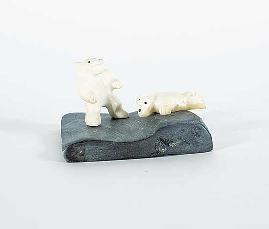 #184 ~ Inuit - Untitled - Bear and Seal Spirits