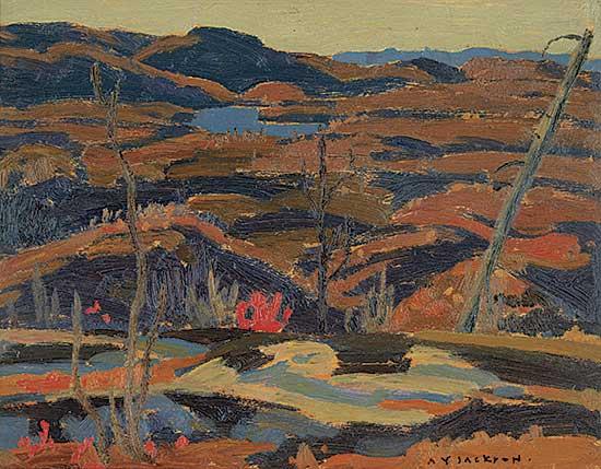 #39 ~ Jackson - Hills, Lake Superior [Sketch for Algoma Rocks, Autumn]