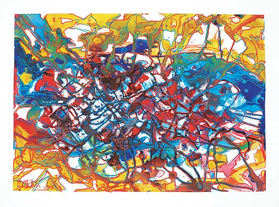 #1102 ~ Lecorre - Untitled - Colourful Abstract