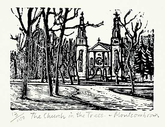 #1194 ~ Montcombroux - The Church in the Trees  #13/100