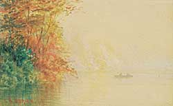 #481 ~ O'Brien - Untitled - Canoeing in the Mist