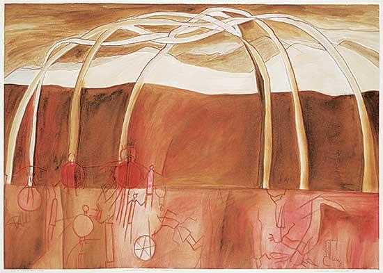 #15 ~ Cardinal-Schubert - Sweet Grass Hills Mosaic I