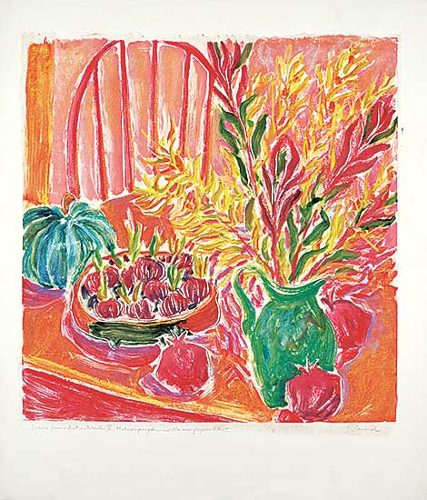 #1066.1 ~ Evrard - Leaves from a Lost Notebook V - Matisse's Pumpkin and the New Paperwhites II  #1/1