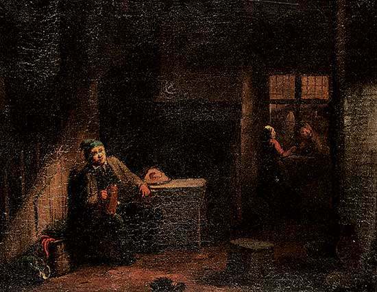 #1276 ~ Teniers - Untitled - After Dinner