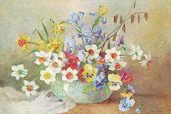 #1280 ~ Trauttweiller - Untitled - Flowers in Blue Vase