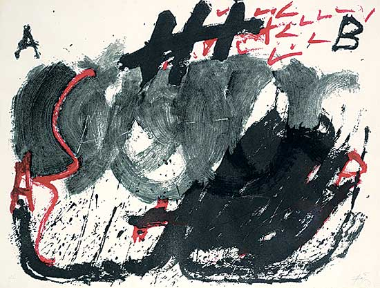 #249 ~ Tapies - Espiral [from the series Negre i roig] #H.C.