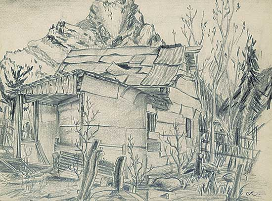 #1324 ~ Robinson - Untitled - The Old House in the Mountains