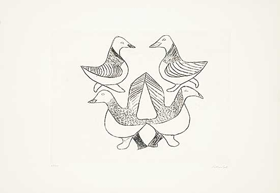 #177 ~ Inuit - Untitled - Four Birds  #38/50
