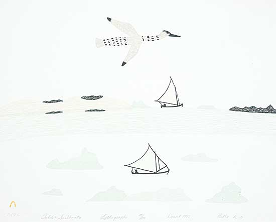 #188 ~ Inuit - Tulik and Sailboats  #23/50