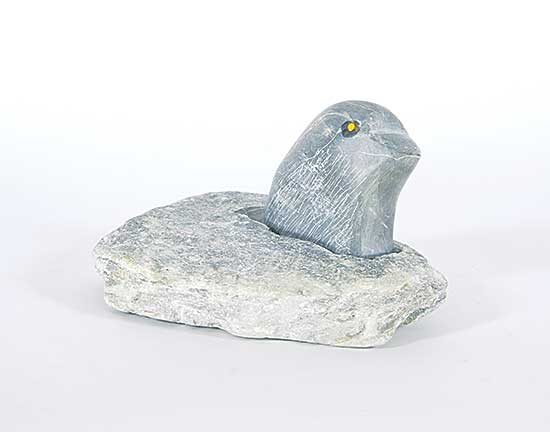 #207 ~ Inuit - Untitled - Bird in Snowbank
