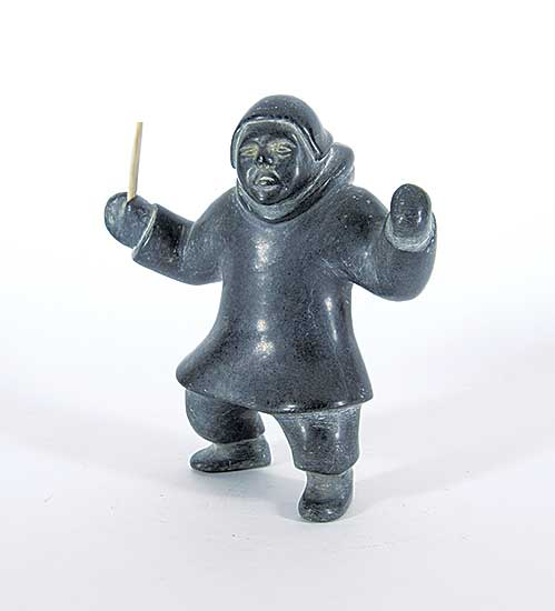#221 ~ Inuit - Untitled - Man with Tool