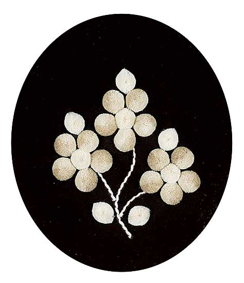 #236 ~ Inuit - Untitled - White Flower Moose Tufting I