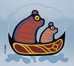 #71 ~ School - Untitled - Bears in a Canoe