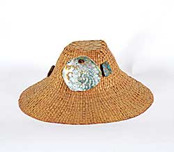 #77 ~ Weir - Woven Hat with Large Shell Buttons