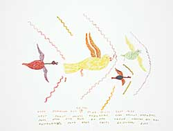 #175 ~ Inuit - Untitled - These Colourful Birds