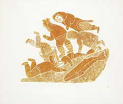#218 ~ Inuit - Inuit Falling Into the Water Trying to Catch Fish  #11/40