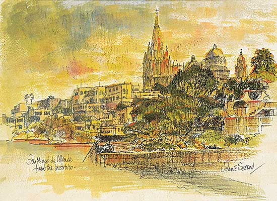 #1264 ~ Secord - San Miguel de Allende from the Instituto