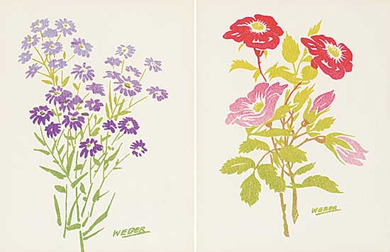 #1309 ~ Weber - Alberta Rose and Wild Asters