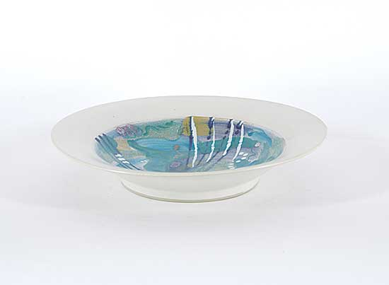 #1315 ~ Wells - Untitled - Colourful Bowl