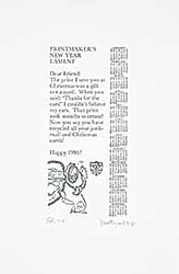 #1316 ~ Westergard - Printmaker's New Year Lament  #Ed. 114