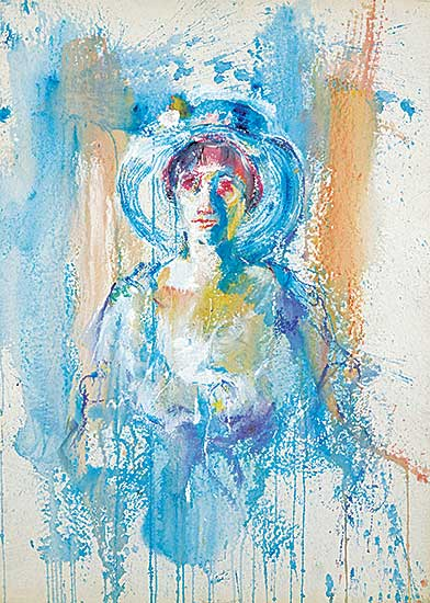 #1075 ~ Finch - Untitled - Woman in Flowered Hat
