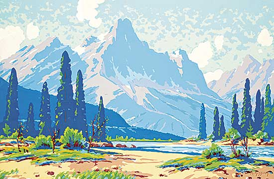#1080 ~ Gissing - Untitled - Summer Mountain Valley