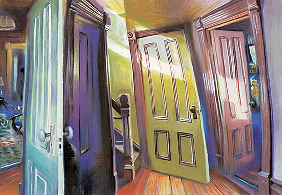 #1180 ~ Pasutti - Untitled - Many Doors