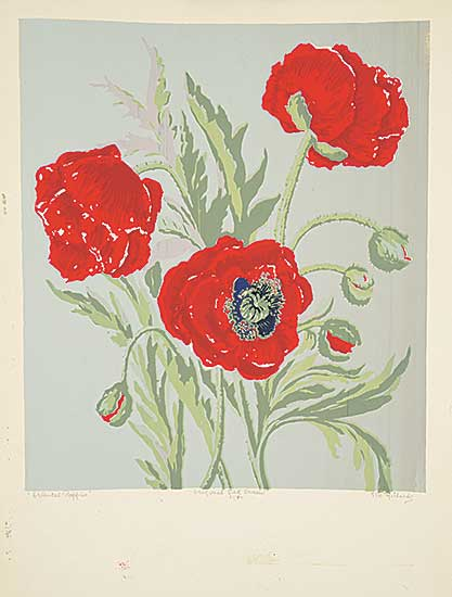 #1209.3 ~ Richards - Oriental Poppies  #31/50