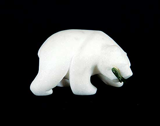 #1252 ~ School - Untitled - Polar Bear and Fish