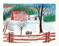 #1018 ~ Black - Untitled - Homestead in Winter