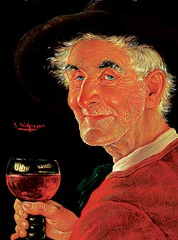 #1061 ~ Eichinger - Untitled - Man Holding Wine Glass