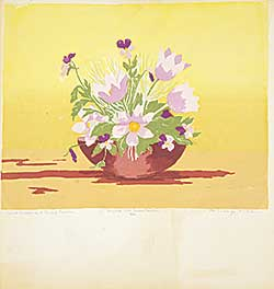 #1209.2 ~ Richards - Wild Crocus and Dwarf Pansies  #5/24