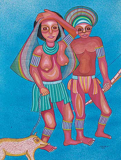 #420 ~ Jakupa - Man, Woman and Pig