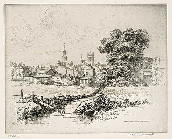 #1016 ~ Armington - Meadow at Dorchester, Dorset  #3rd State 2/3