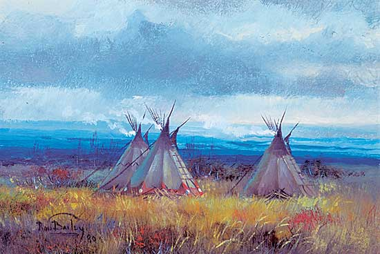 #1023 ~ Bailey - Untitled - Group of Tipis