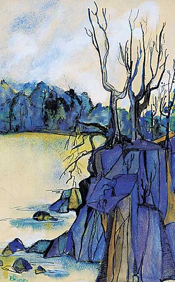 #1030 ~ Belanger - Untitled - The Blue Cliff