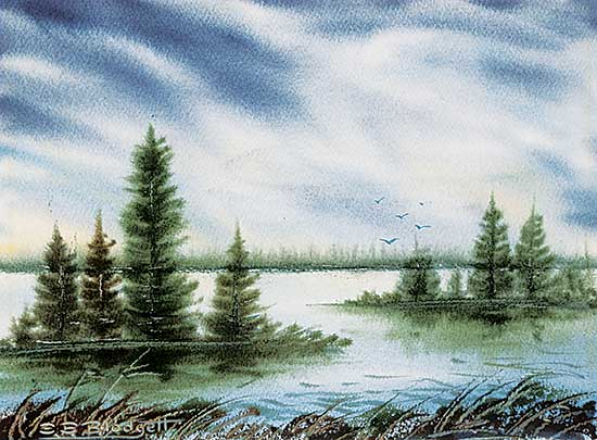 #1045 ~ Blodgett - Untitled - Lake Islands