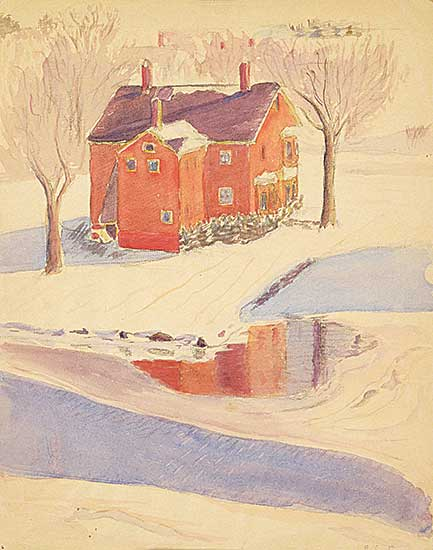 #1073 ~ Cann - Untitled - House in Winter