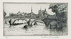 #1018 ~ Armington - Peniches et le Pont Royal, Paris  #37/100