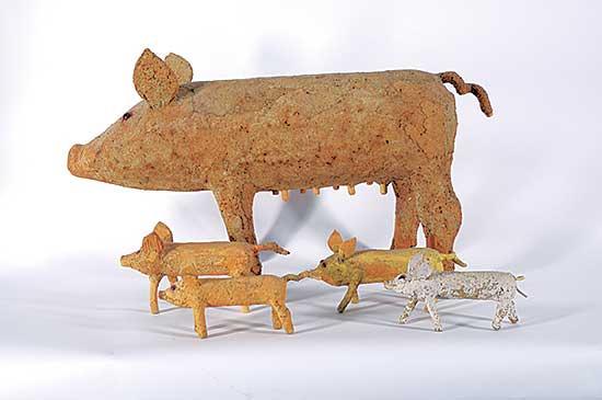 #1240 ~ Markel - Untitled - Sow and Piglets