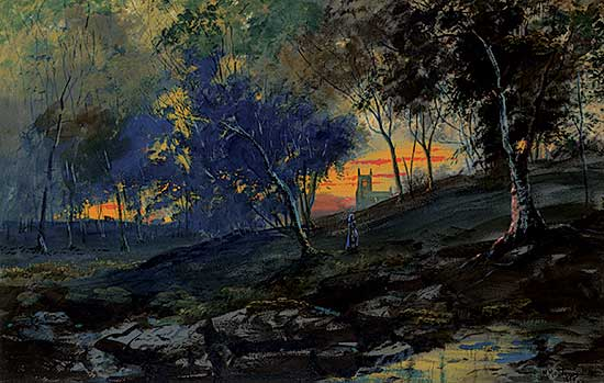 #1250 ~ Matthews - English Forest at Dusk