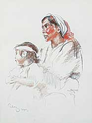 #1151 ~ Gilroy - Untitled - Mother and Child, Calgary