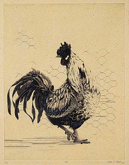 #1392 ~ Stevens - Untitled - The Rooster  #2/10
